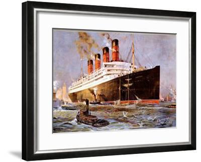 Cunard Line, Aquitania-Odin Rosenvinge-Framed Giclee Print
