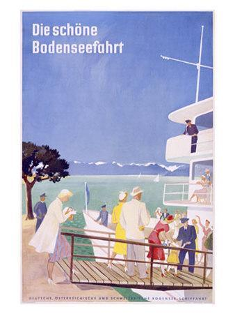 Bodensee, Fahrt-Dietrich Bodman-Mounted Giclee Print