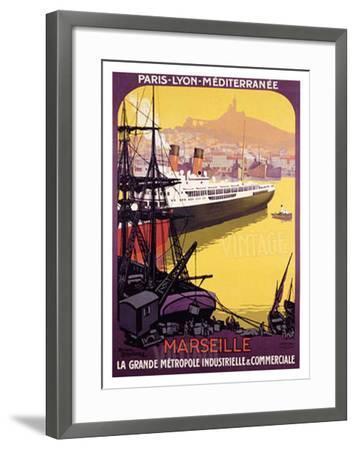 Marseille, Metropole Industrielle-Roger Broders-Framed Giclee Print