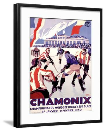 Chamonix, Hockey-Roger Broders-Framed Giclee Print