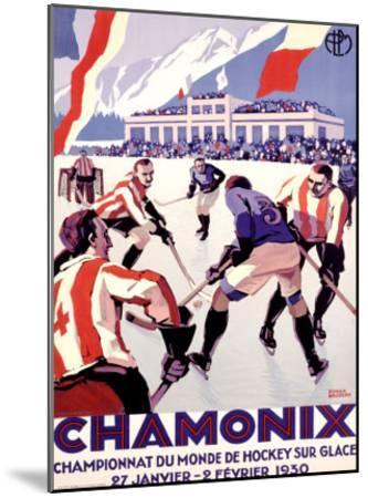 Chamonix, Hockey-Roger Broders-Mounted Giclee Print