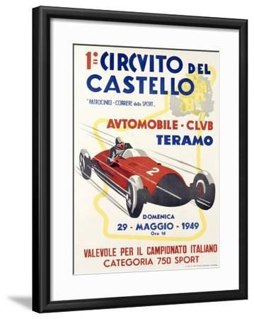 Circuito del Castello--Framed Giclee Print