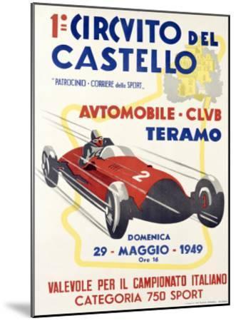 Circuito del Castello--Mounted Giclee Print