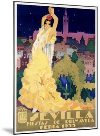 Sevilla-Estela-Mounted Giclee Print