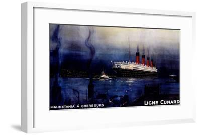 Cunard Line, Mauretania to Cherbourg-Kenneth Shoesmith-Framed Giclee Print