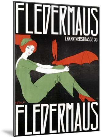 Fledermaus-Fritz Langer-Mounted Giclee Print