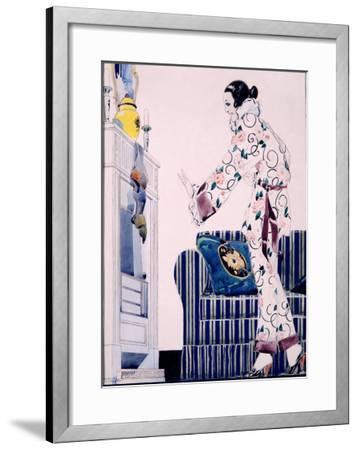 Bon Marche Maquette-Ren? Vincent-Framed Giclee Print