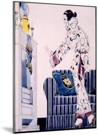 Bon Marche Maquette-Ren? Vincent-Mounted Giclee Print