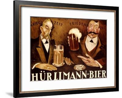 Hurlimann Bier--Framed Giclee Print