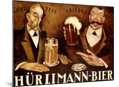 Hurlimann Bier--Mounted Giclee Print