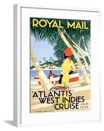 Royal Mail, West Indies--Framed Giclee Print