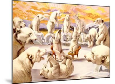 Polar Bears, Circus-Adolphe Friedl?nder-Mounted Giclee Print