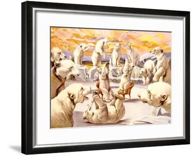 Polar Bears, Circus-Adolphe Friedl?nder-Framed Giclee Print