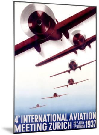 4th International Aviation Meeting, Zurich-Otto Baumberger-Mounted Giclee Print