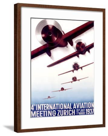 4th International Aviation Meeting, Zurich-Otto Baumberger-Framed Giclee Print