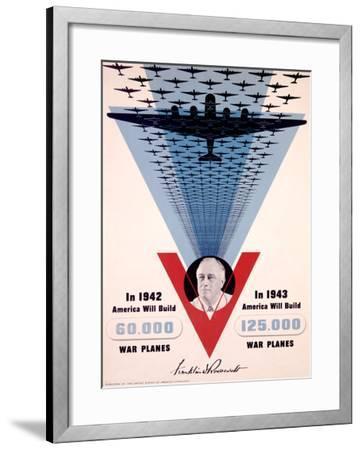 Victory, Franklin D. Roosevelt-Jean Carlu-Framed Giclee Print