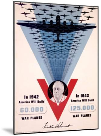 Victory, Franklin D. Roosevelt-Jean Carlu-Mounted Giclee Print