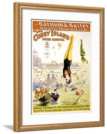 Barnum and Bailey, Coney Island--Framed Giclee Print
