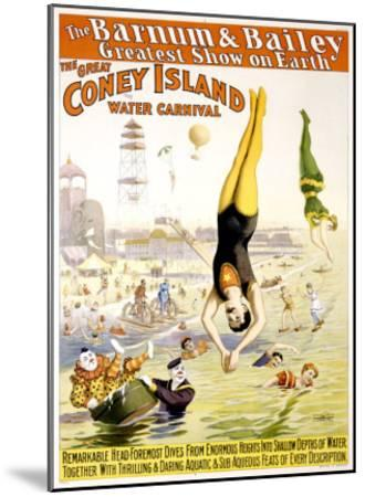 Barnum and Bailey, Coney Island--Mounted Giclee Print