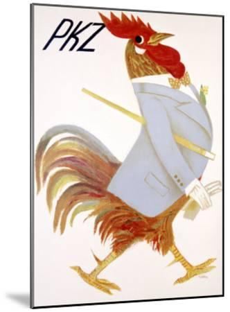 PKZ, Rooster-Carigiet Alois-Mounted Giclee Print