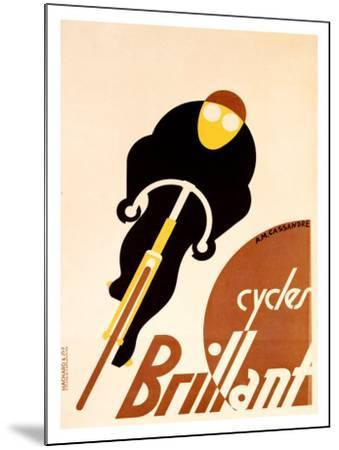 Cycles Brillant-Adolphe Mouron Cassandre-Mounted Giclee Print