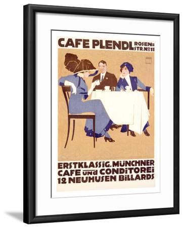 Café Plendl-Ludwig Hohlwein-Framed Giclee Print