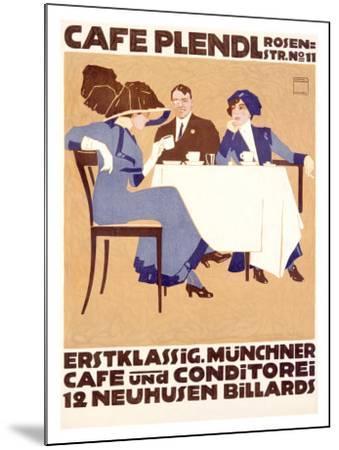 Café Plendl-Ludwig Hohlwein-Mounted Giclee Print