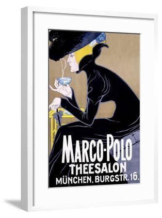 Marco Polo Tea Salon--Framed Giclee Print
