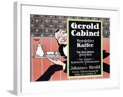 Gerold Cabinet Kaffee-J^ Loe-Framed Giclee Print