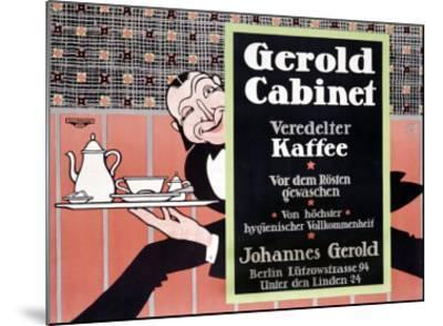 Gerold Cabinet Kaffee-J^ Loe-Mounted Giclee Print