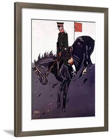 Bayerische Reiter-Ludwig Hohlwein-Framed Giclee Print