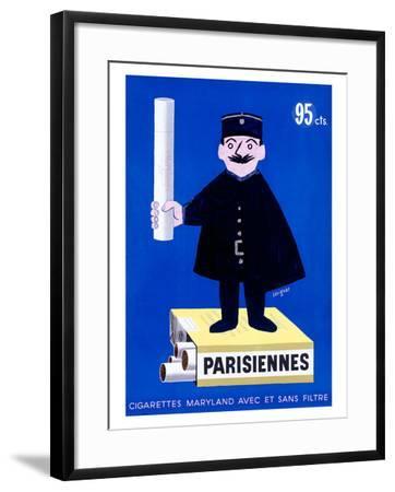 Parisiennes Cigarettes-Raymond Savignac-Framed Giclee Print