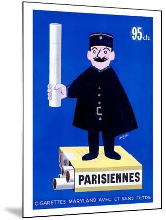 Parisiennes Cigarettes-Raymond Savignac-Mounted Giclee Print