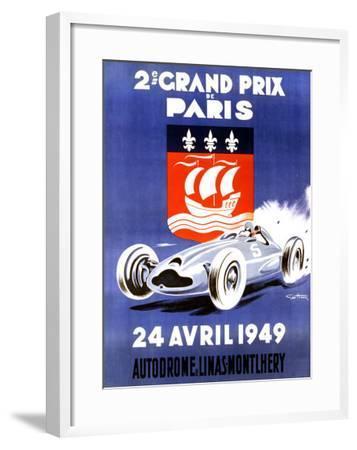 2nd Grand Prix de Paris-Geo Ham-Framed Giclee Print