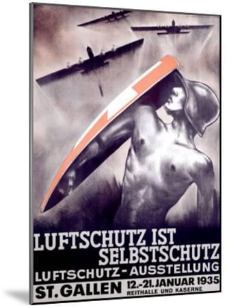 Luftschutz ist Selbstschutz-Otto Baumberger-Mounted Giclee Print