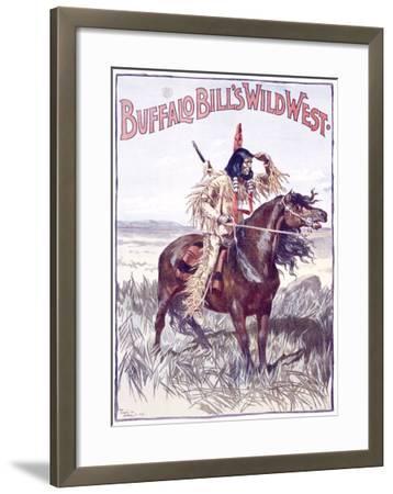Buffalo Bill's Wild West, An American Indian--Framed Giclee Print