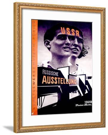 Russiche Ausstellung-El Lissitzky-Framed Giclee Print