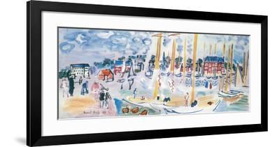 Dimanche a Deauvilie-Raoul Dufy-Framed Art Print