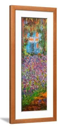 The Artist's Garden at Giverny (detail)-Claude Monet-Framed Art Print