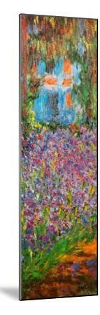 The Artist's Garden at Giverny (detail)-Claude Monet-Mounted Art Print