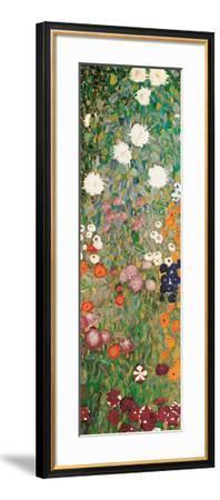 Flower Garden (detail)-Gustav Klimt-Framed Art Print