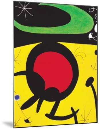 Vuelo de Pajaros-Joan Mir?-Mounted Art Print