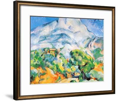 La Montagne St. Victoire-Paul C?zanne-Framed Art Print
