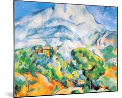La Montagne St. Victoire-Paul C?zanne-Mounted Art Print