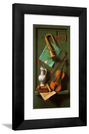 Old Models-William Michael Harnett-Framed Art Print