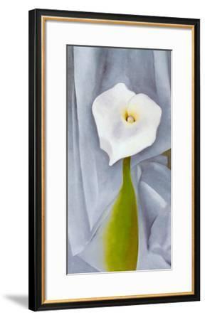Calla Lilly On Grey-Georgia O'Keeffe-Framed Art Print