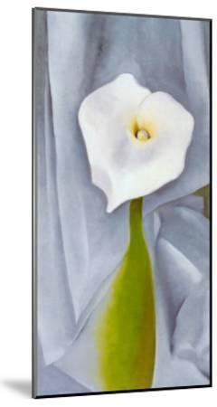 Calla Lilly On Grey-Georgia O'Keeffe-Mounted Art Print