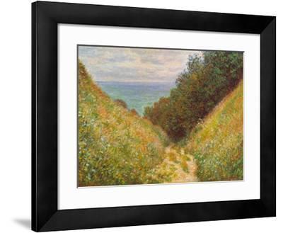 Road At La Cavee-Claude Monet-Framed Art Print