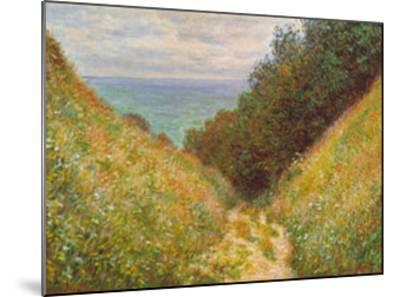 Road At La Cavee-Claude Monet-Mounted Art Print