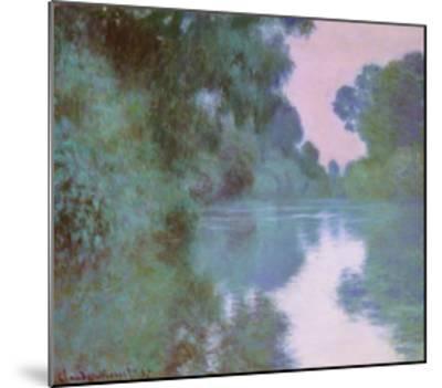 Morning On Seine-Claude Monet-Mounted Art Print